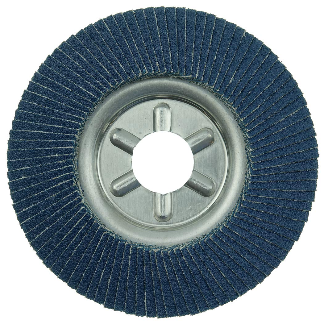 60 Grit Aluminum Backing Weiler Tiger Abrasive Flap Disc Pack of 1 4 Dia. Round Hole Type 29 Zirconia Alumina