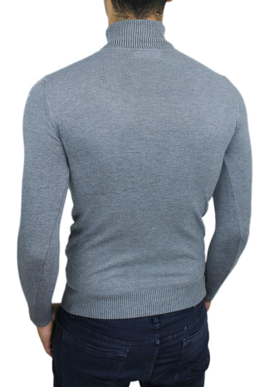 AK collezioni Men's Jumper grey bright grey (ral 7035) Large