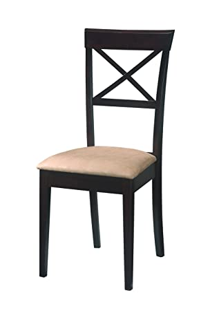 coaster dining chairs crossback design dark cappuccino set of 2 - Dinette Chairs