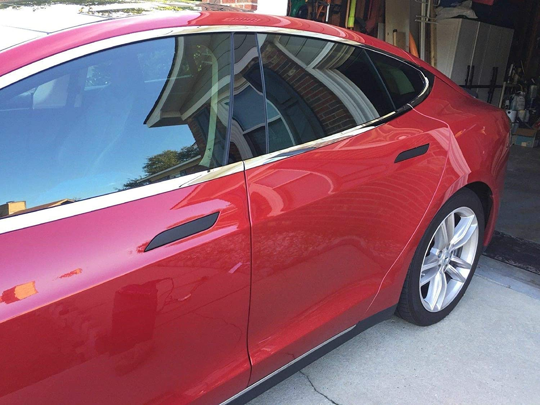 Various Color Tesla Model S Door Handle Cover Decals with Heat Protection