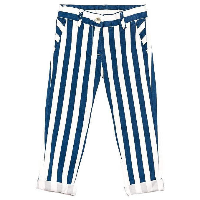 Pantalone MONNALISA Righe Bianco Blu