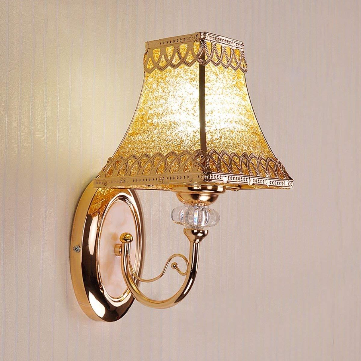 BXJ ヨーロッパの鉄の壁ランプ樹脂の壁ランプ寝室の壁ランプベッドサイドの壁ランプE27光源 B07R9MHC7Y