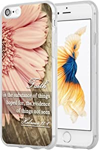 Case for iPhone 7 Christian Sayings,Hungo Soft TPU Silicone Protective Cover Compatible with iPhone 8/7 / SE 2 (SE 2020) Bible Verses Sayings About Faith Hebrews