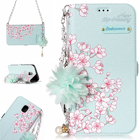Amazon.com  IVY Fashion Flowers Wallet Case Galaxy J5 (7) Handbag ... 57b1660dfa3a