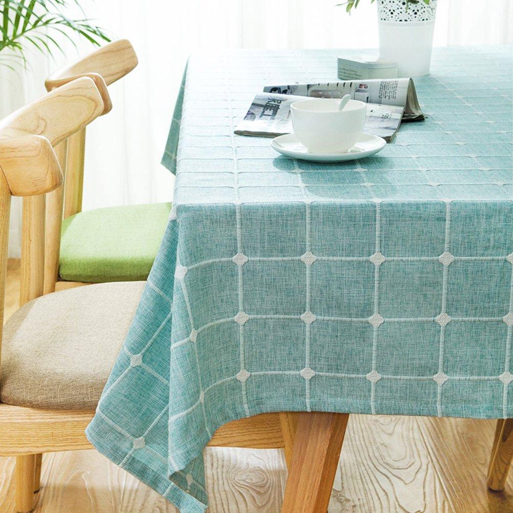 Maoge Home tischdecke,Vintage tischdecke,Stoff Baumwolle leinen.lÄndlichen Moderne Landschaft Lattice Edge Edge Edge teetisch sauber längliche tischdecke.mehrere Farben.grau-Grau 110x170cm(43x67inch) B076LWT363 Tischdecken 3bc174