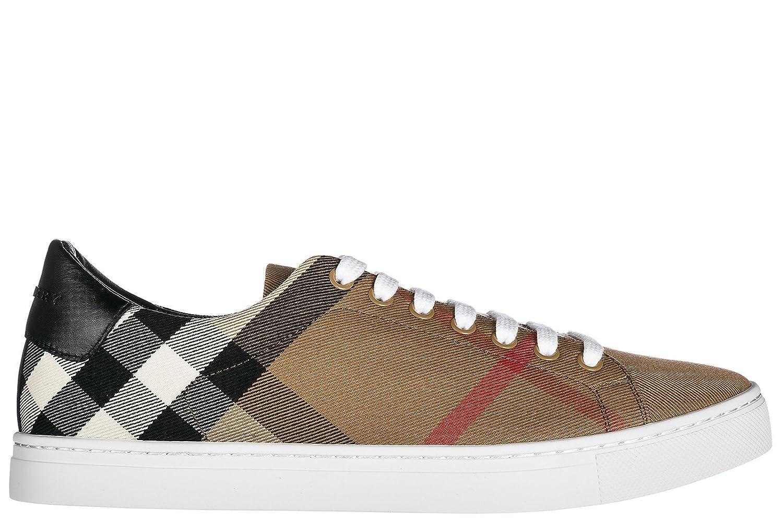 BURBERRY Herrenschuhe Herren Nylon Sneakers Schuhe Braun  41 EU