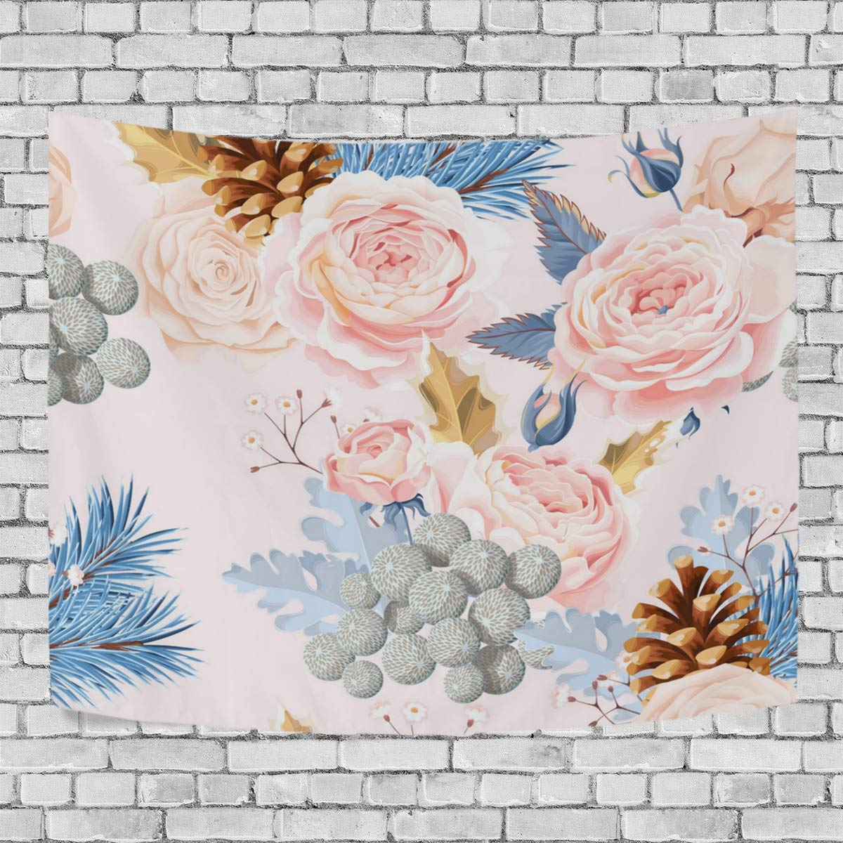 a55112c8580d39 Daisyyr Kittooa Like Roses Under The Sun Unique Romantic Soft Green Wall  Carpet Gorgeous Art Deco Tapestry Bedroom Living Room Dormitory Fashion  Print ...