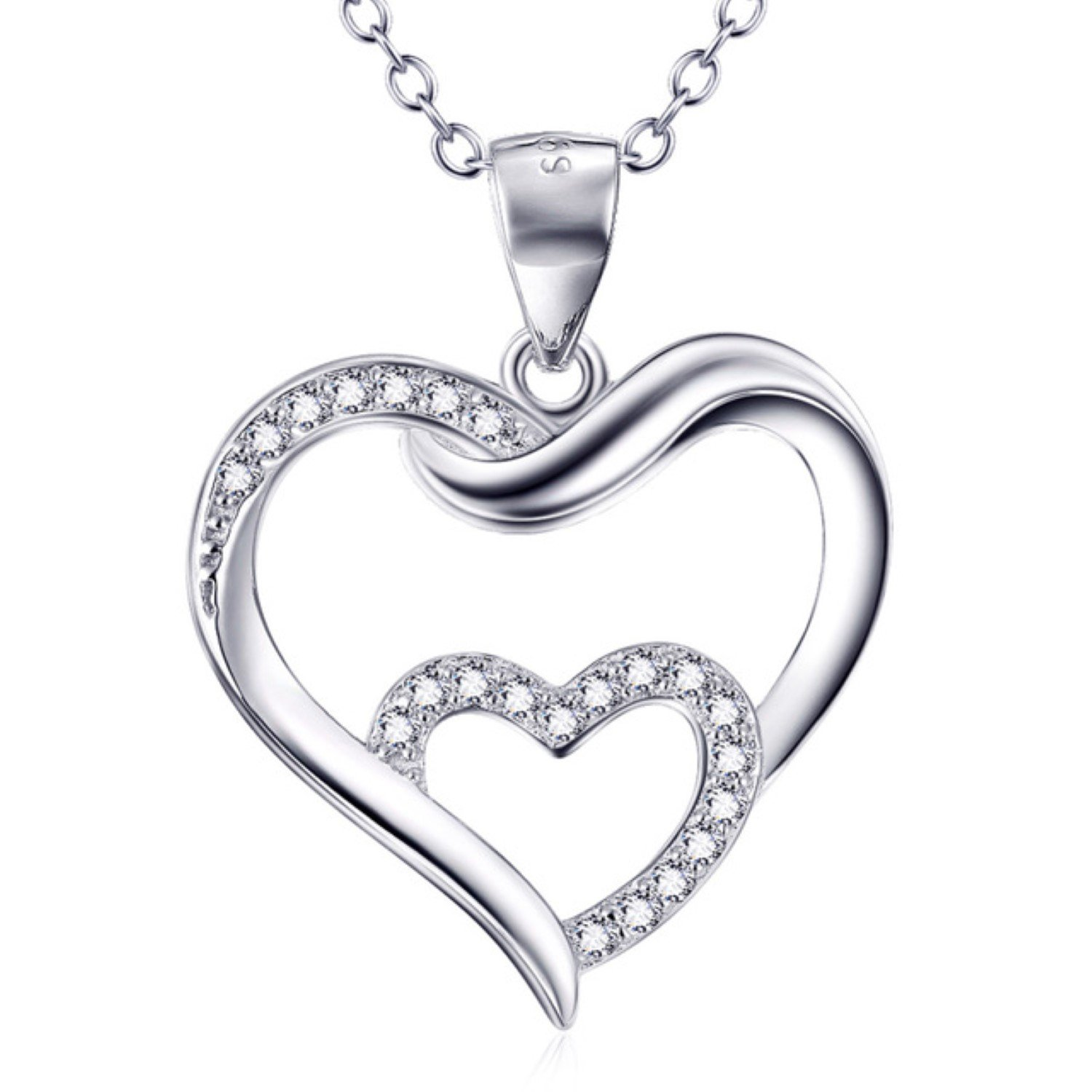 CS-DB Pendants Necklaces Silver Heart Girls /& Jewelry Fashion Jewelry