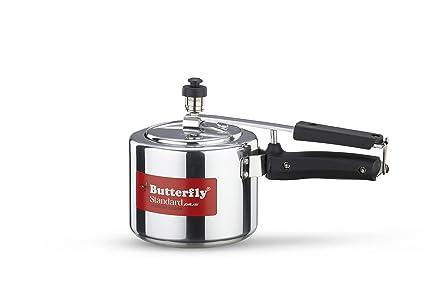 Butterfly Standard Plus Induction Base Aluminium Pressure Cooker, 2 Litre