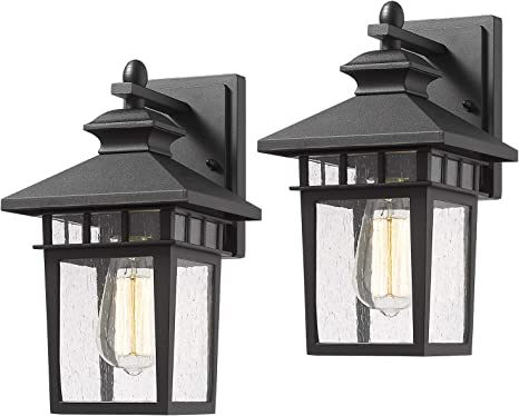 Amazon.com: Beionxii Outdoor Wall Mount Lights | 2-Pack Exterior ...