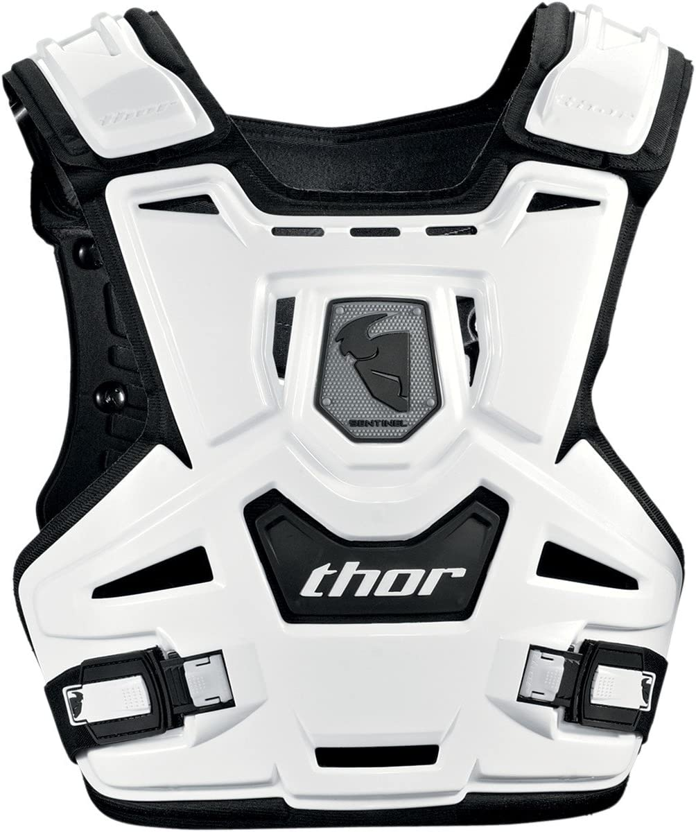 Youth THOR MX Motocross Kids SENTINEL CE Chest Protector//Roost Guard White