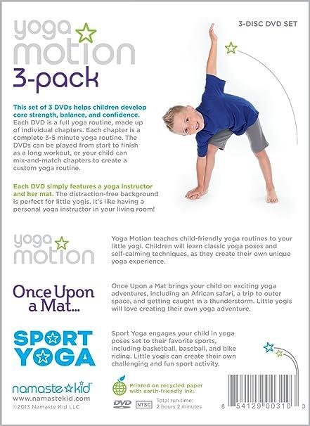 Amazon.com: Yoga Motion 3-pack - Kids Yoga DVD 3-disc Set ...