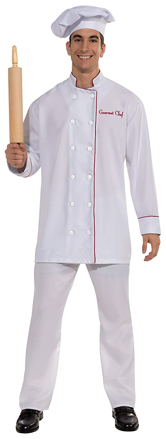 amazoncom forum novelties mens gourmet chef costume white one size clothing - Amazon Halloween Costumes Men