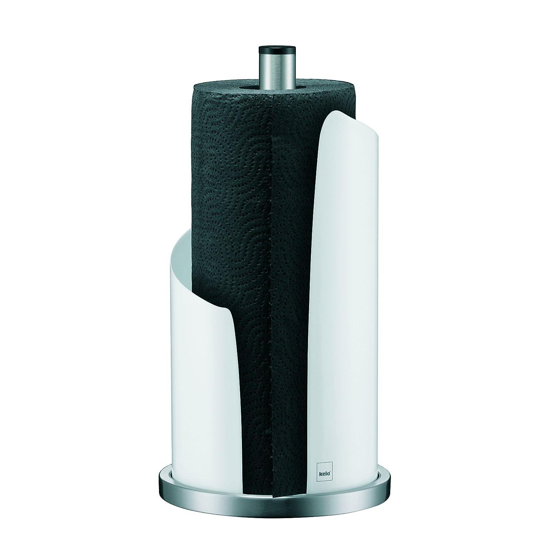 Soporte para rollo de papel de cocina met/álico, varilla y soporte de acero inoxidable color blanco kela 11201 Stella