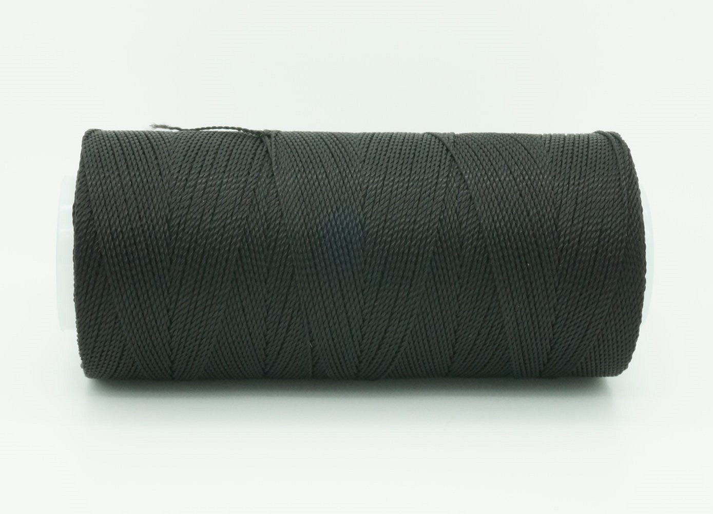 BLACK 0.6mm 100% Nylon Twisted Cord Thread Micro Macrame Beading Knitting Crochet Needle Crafts (300yards Tube) Hilo