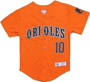 Adam Jones Baltimore Orioles #10 Orange Youth Player Fashion Jersey (Large 14/16)