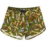 LedBack Womens Slim Fit Quick Dry Summer Short Swim Trunks with 2 Pockets