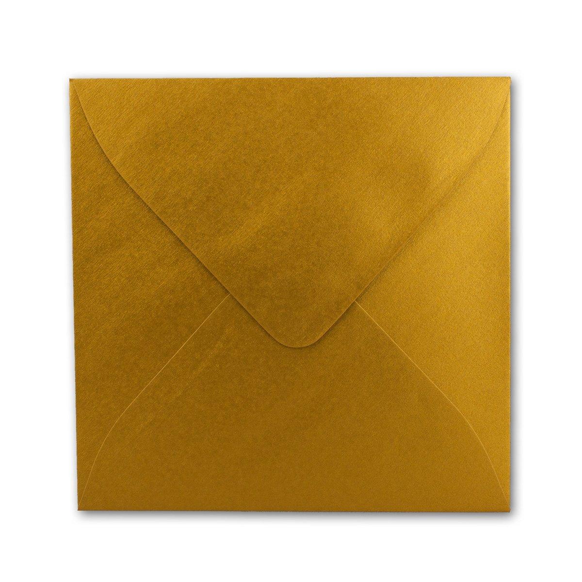 Quadratische Brief-Umschläge Brief-Umschläge Brief-Umschläge - Farbe Hochweiss   150 Stück   155 x 155 mm   Nassklebung   Für Einladungen & Hochzeit    Serie FarbenFroh® B07D2GCCCL | Stabile Qualität  ccf589