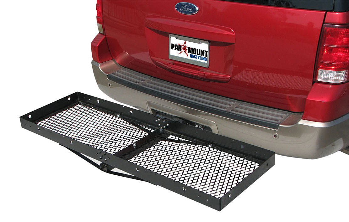 Paramount Restyling 7700 Non-Folding Hitch Mount Cargo Basket for 2'' Hitch Receivers by Paramount Restyling