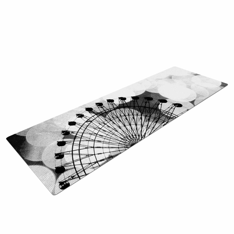 SC4114AYM01 72 X 24 72 X 24 KESS Global Inc Kess InHouse Sylvia Coomes Black /& White Ferris Wheel Black White Yoga Mat