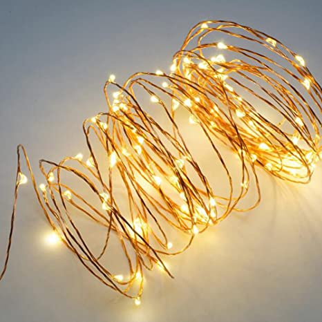 check out c5503 9f556 2 Pack 36ft Copper Wire Micro Lights Total 200 LED Waterproof Starry String  Lights for Home Garden Decoration BBQ Wedding Festival Party Valentine's ...
