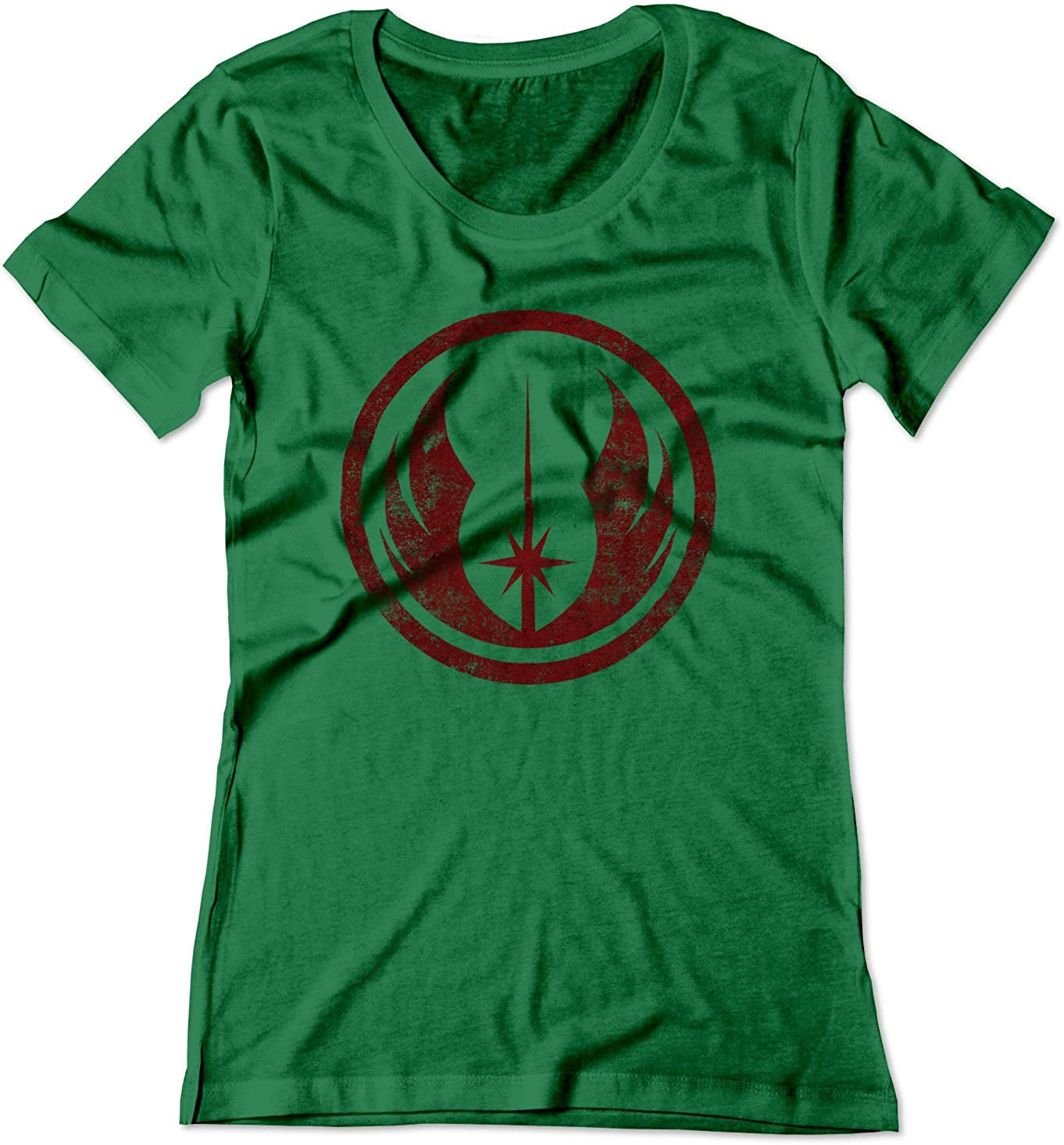 d428bbdd Amazon.com: BSW Women's Star Wars Jedi Order Vintage Style Logo Shirt:  Clothing