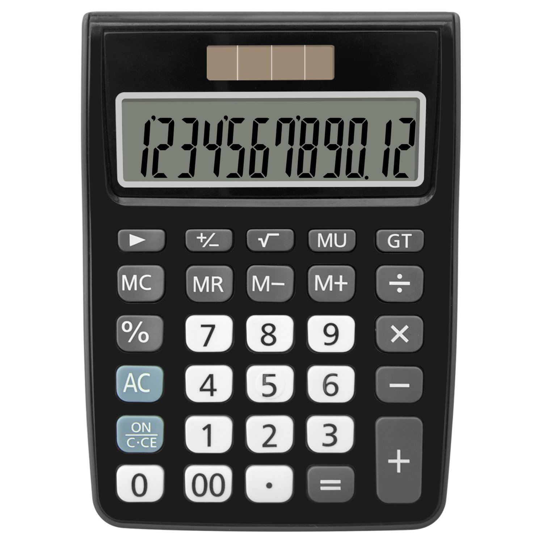 Helect H1005 Standard Function Desktop Calculator H-1005-Calculator-Basic-BK