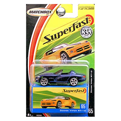 MATCHBOX SUPERFAST 35 YEARS EDITION BLUE DODGE VIPER RT/10 DIE-CAST: Toys & Games