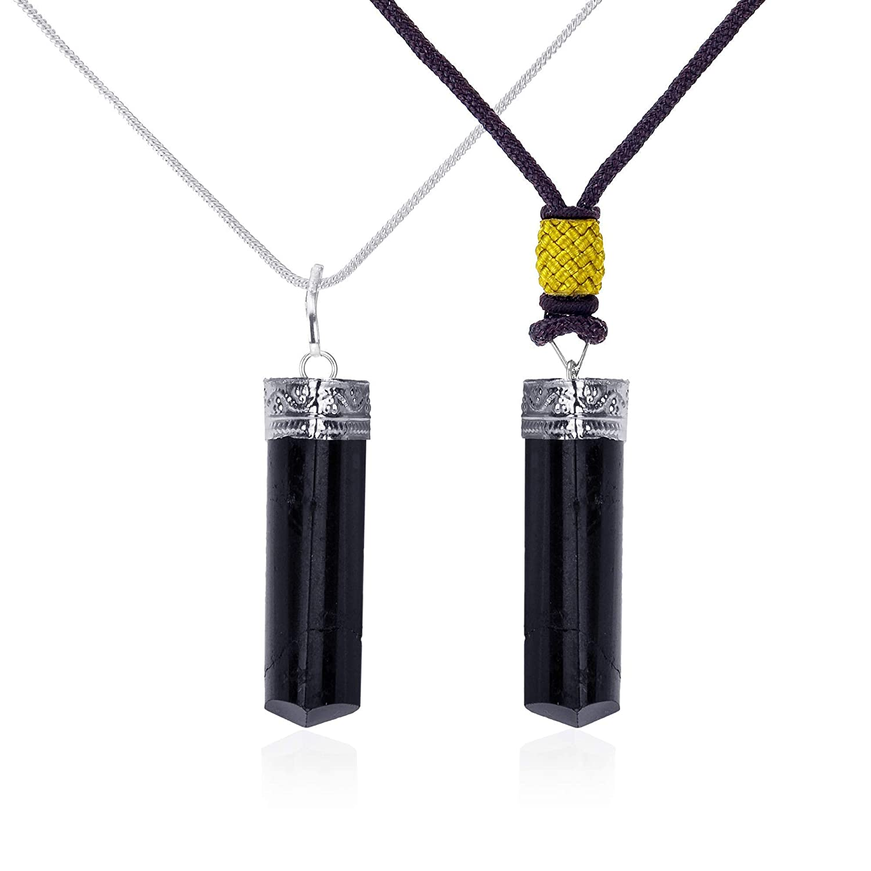 Black Tourmaline Cord Necklace