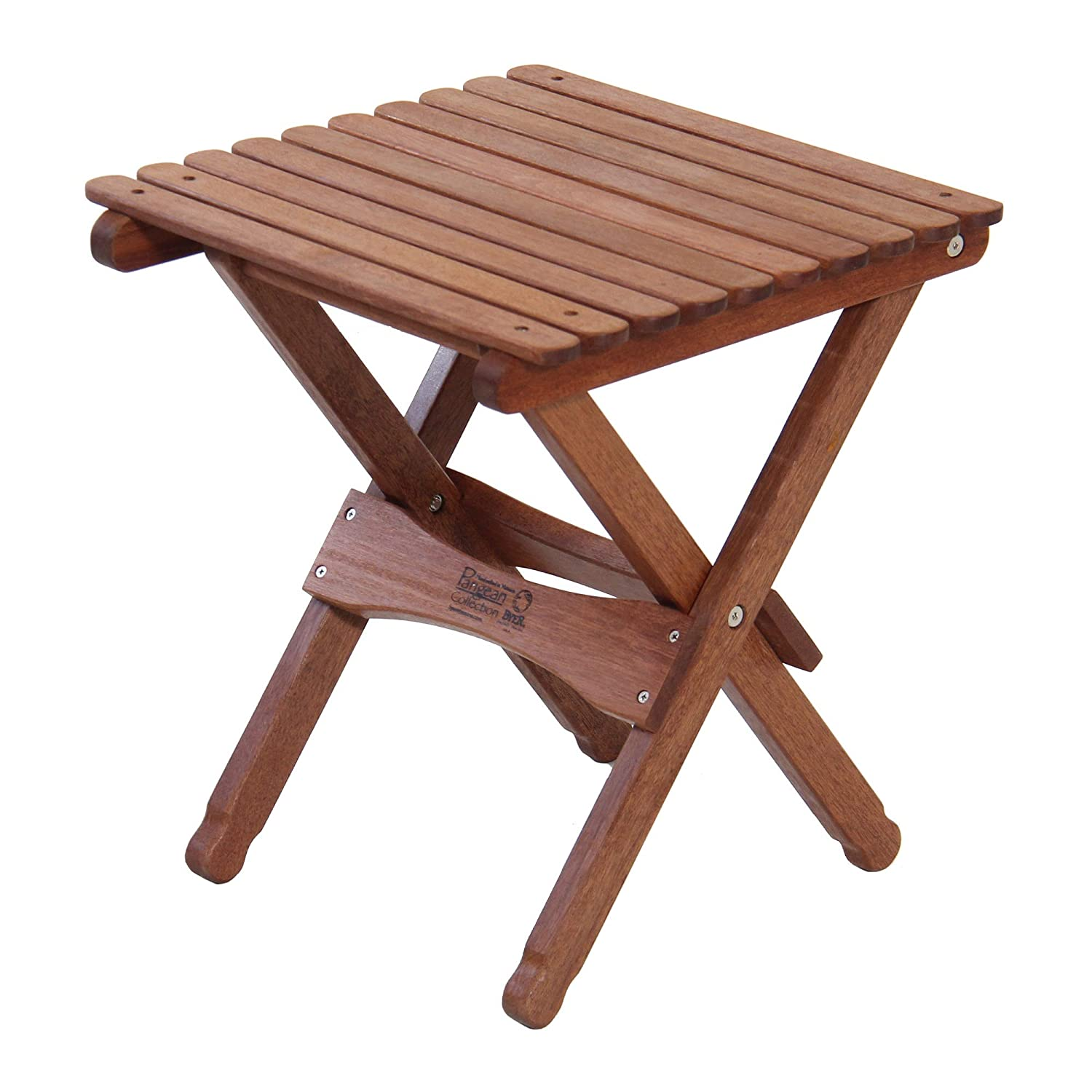 Byer of Maine 18 Wooden Camping and Patio Outdoor Folding End Table – Natural Finish