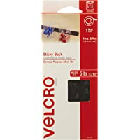 VELCRO Brand - Sticky Back Hook and Loop Fasteners – Peel and Stick Permanent Adhesive Tape Keeps Classrooms, Home, and Offices Organized – Cut-to-Length Roll | 4ft x 3/4in Tape | Black
