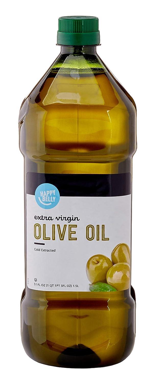 Amazon Brand - Happy Belly Extra Virgin Olive Oil, Mediterranean Blend, 51 Fl Oz