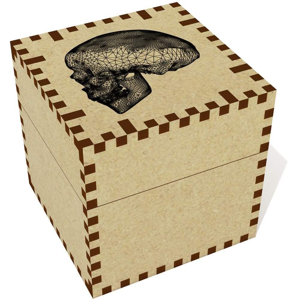 Azeeda Medio (57mm) 'Cráneo de Alambre' Joyería Caja (JB00028796)