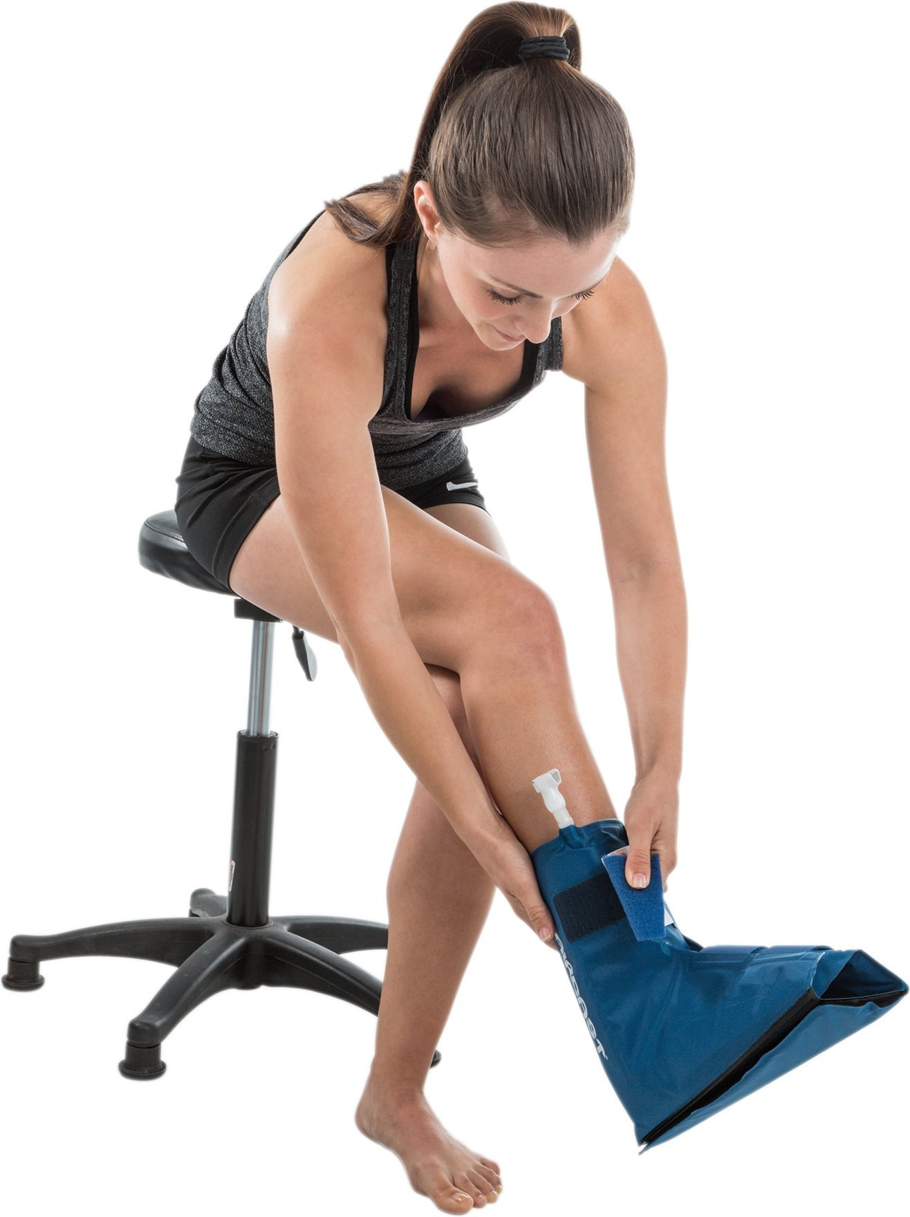 Aircast Cryo/Cuff Cold Therapy: Ankle Cryo/Cuff with Non-Motorized (Gravity-Fed) Cooler, One Size Fits Most by Aircast (Image #2)