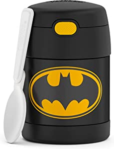 THERMOS FUNTAINER 10 Ounce Stainless Steel Vacuum Insulated Kids Food Jar, Batman