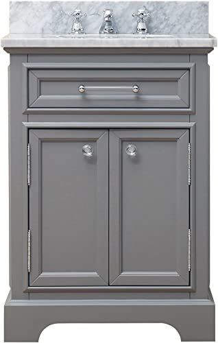 Water Creation Derby 24G 24″ Cashmere Grey Single Sink Bathroom Vanity