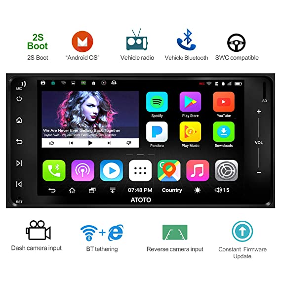 ATOTO A6 Android Car Navigation Stereo w / 2xBluetooth for Select  Toyota/Subaru (205mm x 104mm) - Standard A6YTY710S 1G/16G Auto  Radio,WiFi/BT