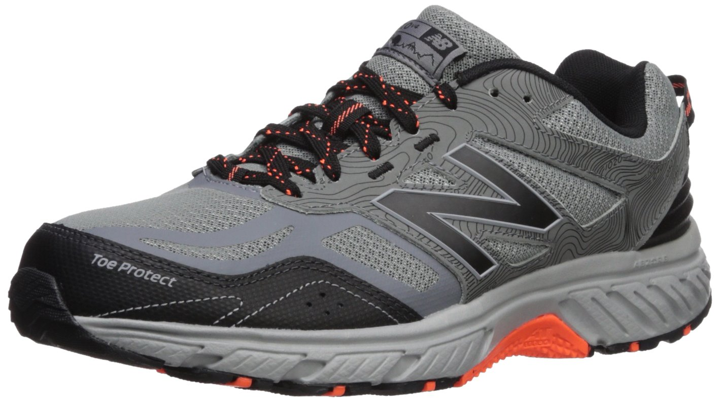 New Balance Men's 510v4 Cushioning Trail Running Shoe, Grey/Black, 10.5 D US