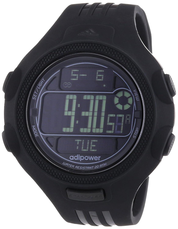 adidas Adipower - Reloj de cuarzo para hombre, correa de silicona color negro: Adidas: Amazon.es: Relojes