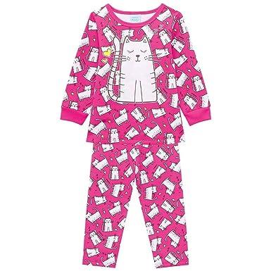 67b978358 Pijama Infantil menina manga longa rosa peluciado gatinha delicada brilha  no escuro tamanho 01