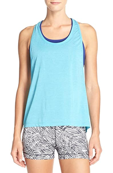 278353575c517 Amazon.com  NIKE Womens Dri-Fit Built in Bra Tank Top Blue XS  Sports    Outdoors