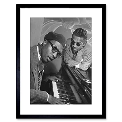 The Art Stop Music Vintage Photo Jazz Legend Thelonious Monk Piano Framed  Print F97X7596