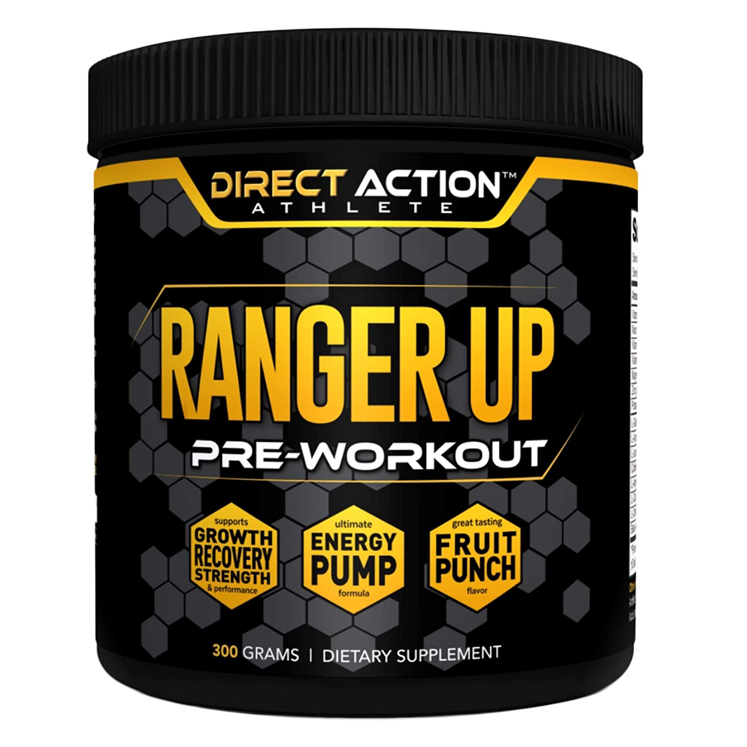 Direct Action Athlete Ranger Up Pre-Workout Powder Fruit Punch Advanced Non-GMO Formula for Explosive Strength Stamina Muscle Growth Energy Support