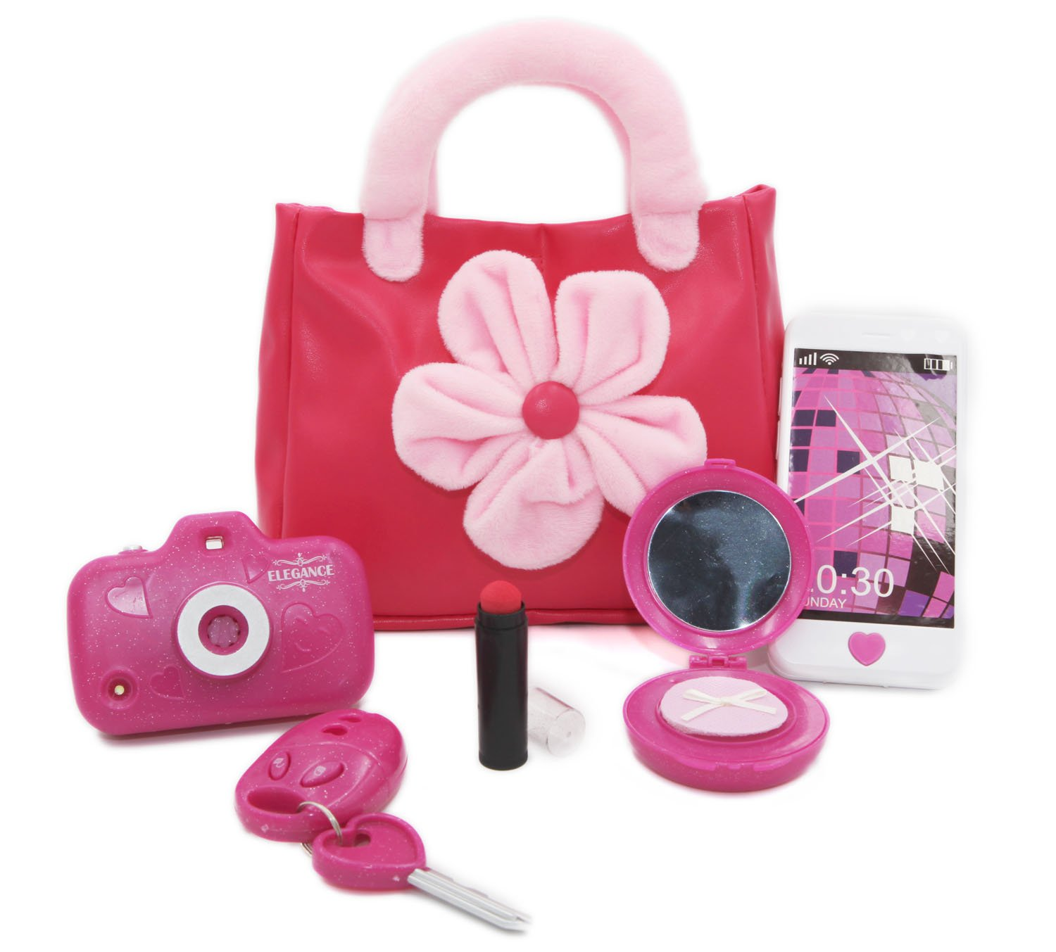 AI-DEE My First Purse - Pretend Play Kid Purse Sets 6 PCS Toys for Toddlers and Preschoolers Girls