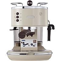 De'Longhi 德龙 Icona Vintage 复古早餐系列 泵压式半自动咖啡机 ECO310.VBG 奶油白色 1100W功率(海外自营)(国内官方联保两年)(包邮包税)