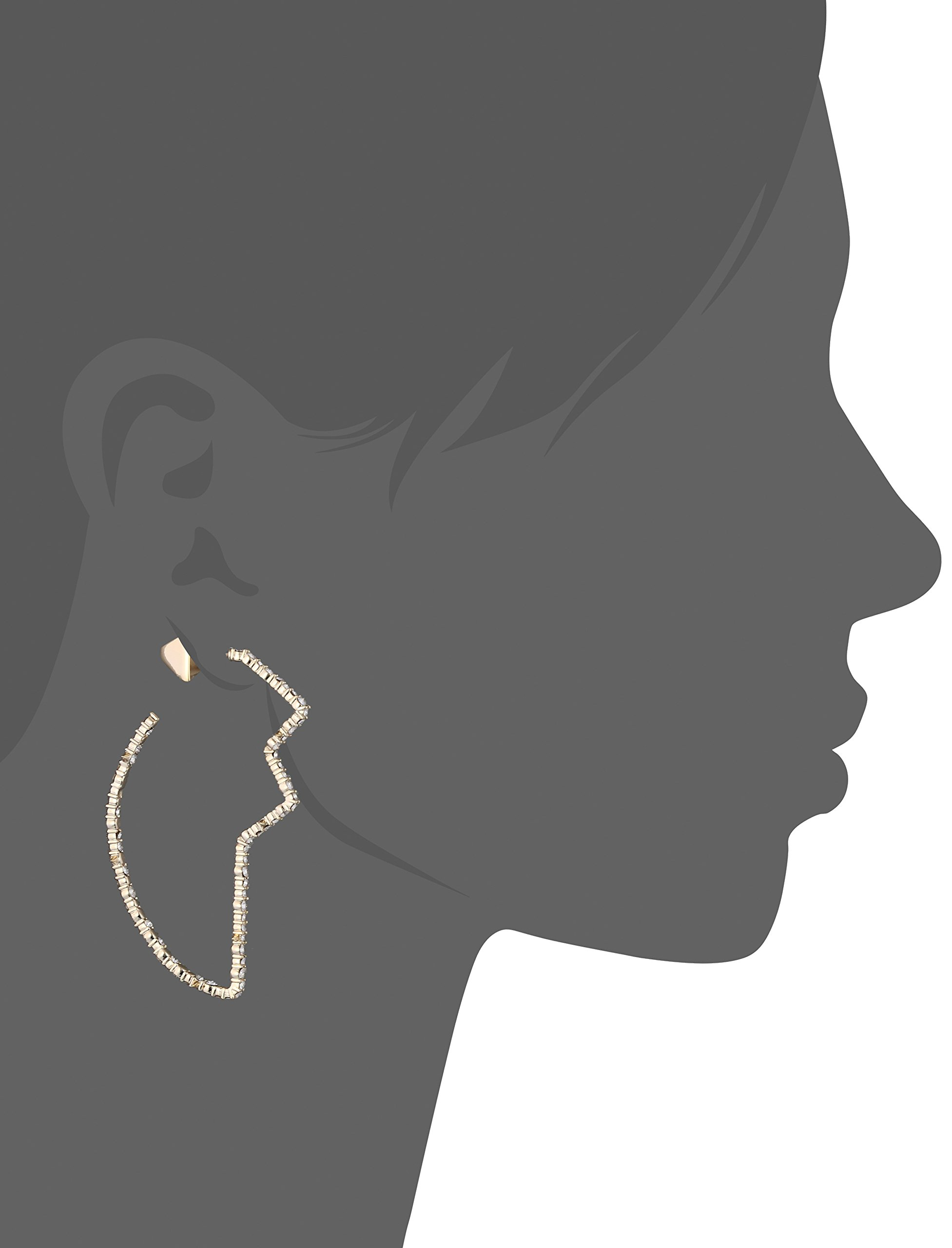 Alexis Bittar Crystal Encrusted Abstract Tulip Hoop Post Earrings, 10K Gold, One Size by Alexis Bittar (Image #2)