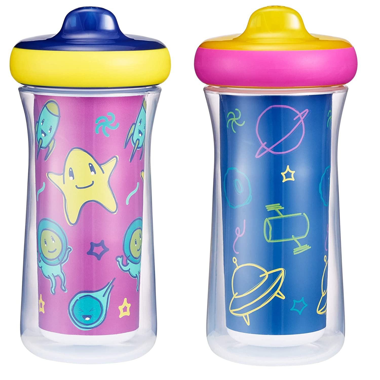 The First Years Insulated Sippy Cups 9 Oz - 2 Pack, Multi