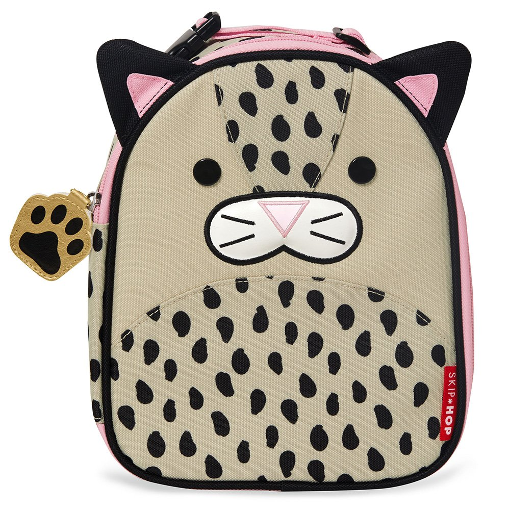 Skip Hop Baby Zoo Little Kid and Toddler Insulated and Water-Resistant Lunch Bag, Multi London Leopard