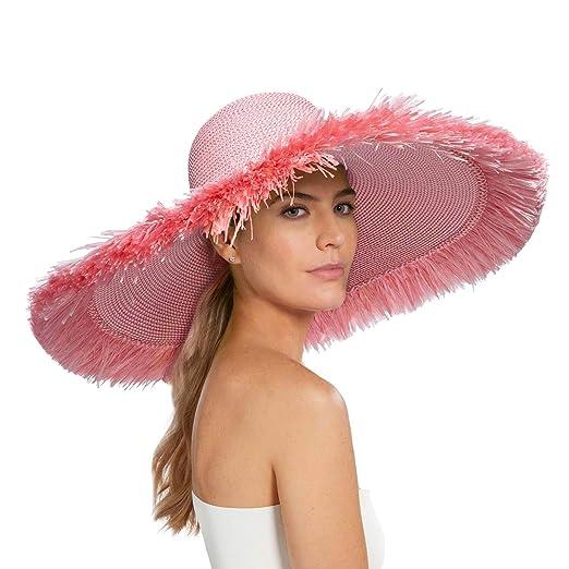 088eeeed7 Eric Javits Luxury Women's Designer Headwear Hat - Floppy with Fringe