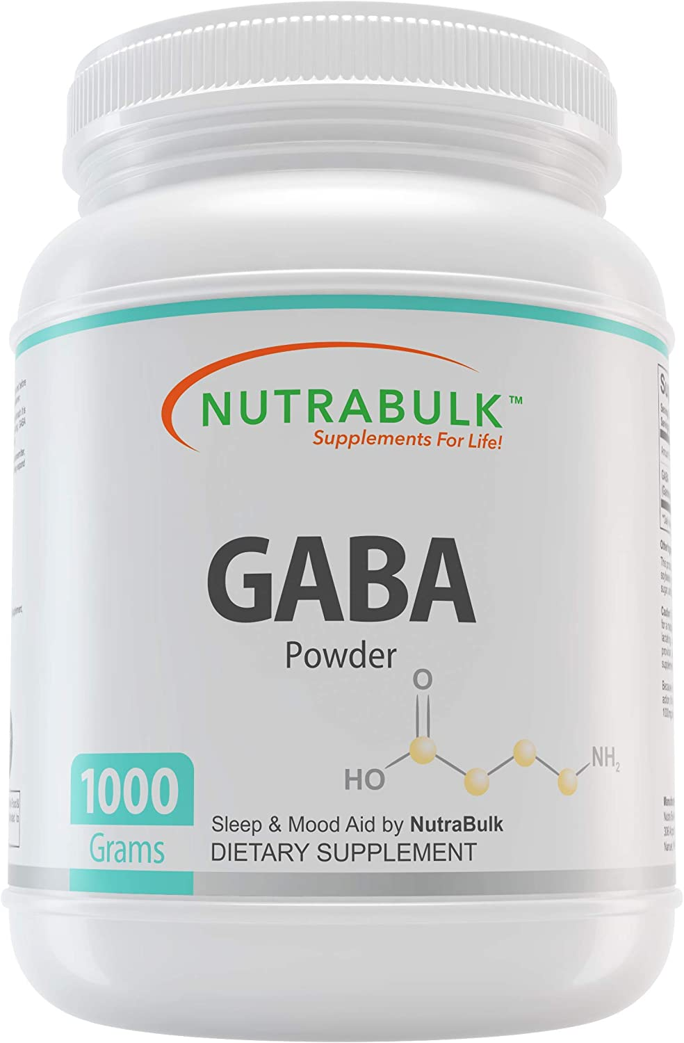 NutraBulk GABA Powder Sleep Aid Calming Relaxing Support – Stress Depression Relief Promotes Calming Well Being Boosts Your Mood -1 Kilogram